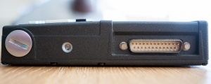 Battery Compartment & RS 232 Port