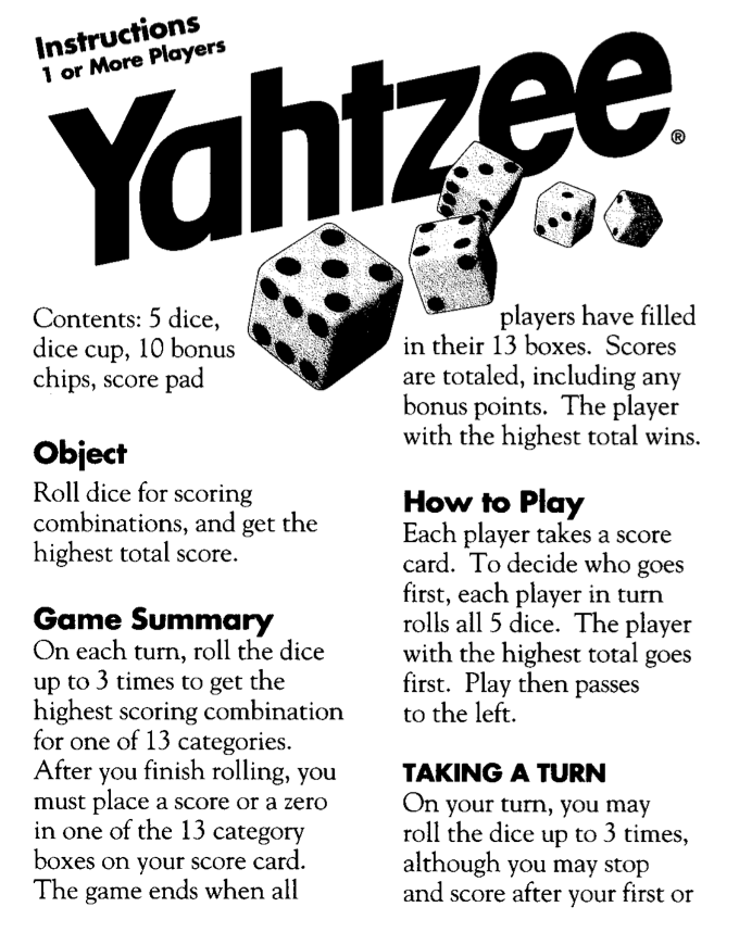 photograph about Yahtzee Rules Printable known as Retrochallenge Yahtzee! Retrocosms Classic Computing