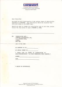 Compunet Letter
